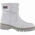 s.Oliver coole Damen Velourleder Imitat Winter Boots grau, molliges Warmfutter, Soft-Foam-Fußbett, 1641110/41