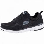 Skechers Flex Advantage 3.0 coole Herren Mesh Sneakers black, Air-Cooled Memory Foam-Fußbett, 4242115/39