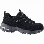Skechers D Lites Play On coole Damen Synthetik Sneakers black, Skechers Air-Cooled Memory Foam-Fußbett, 4241142