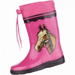 Beck Winner Mädchen Gummistiefel mit Pferdemotiv aus Gummi pink, schmale Passform, 5030102/23