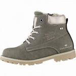 TOM TAILOR Mädchen Winter Leder Imitat Tex Boots khaki, 10 cm Schaft, Warmfutter, warmes Fußbett, 3741159