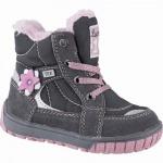 Lurchi Jona Mädchen Winter Leder Tex Boots grey, molliges Warmfutter, warmes Fußbett, 3241117