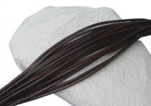 10 Stück Ziegenleder Rundriemen dunkelbraun, geschnitten, für Lederschmuck, Lederketten, Länge 100 cm, Ø 1 mm