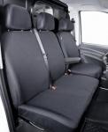 Passform Sitzbezüge Mercedes Vito W639, passgenauer Stoff Sitzbezug Einzelsitz+Armlehne+Doppelbank vorn, ab Bj. 06/2003-05/2014