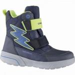 Geox Jungen Synthetik Winter Amphibiox Boots navy, 12 cm Schaft, molliges Warmfutter, Thermal Insulation, 3741119