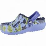 Crocs Classic Lined Graphic Clogs Kids Mädchen, Jungen Winter Crocs ocean, Warmfutter, warmes Fußbett, 4339107
