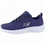 Skechers Dynamight coole Damen Strick Sneakers navy, Skechers Memory-Foam-Fußbett, 4240200/39