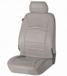 Universal Echt Leder Auto Sitzbezug grau für fast alle PKW, für Fahrersitz oder Beifahrersitz