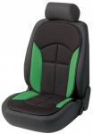 bequeme Universal Auto Sitzauflage Novara grün, hohes Rückenteil, 30 Grad waschbar, alle PKW