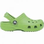 Crocs Classic Clog Kids Mädchen, Jungen Crocs grass green, Massage-Fußbett, Belüftungsöffnungen, 4340118