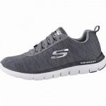 Skechers Flex Advantage 2.0 coole Herren Jersey Sneakers char, Air-Cooled Memory Foam-Fußbett, 4242116/39