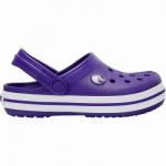 Crocs Crocband Clog Kids Mädchen, Jungen Crocs ultraviolet, anatomisches Fußbett, Belüftungsöffnungen, 4340120/28-29