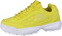 KAPPA Rave Sun coole Damen Canvas Sneaker yellow, herausnehmbare Decksohle - Vorschau 5