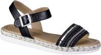 JANE KLAIN Damen Synthetik Sandalen black, weiche Super Soft Decksohle - Vorschau 5
