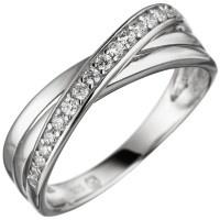 Damen Ring 925 Sterling Silber mit Zirkonia Silberring - Vorschau 2