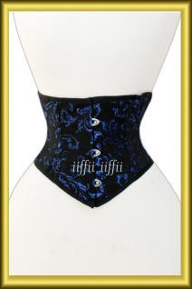 Taillen korsett corsage aus Brokat Schwarz Lila - Vorschau 1