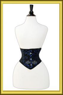Taillen korsett corsage aus Brokat Schwarz Lila - Vorschau 2