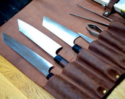 Chef Messer Roll Tasche aus Original Leder