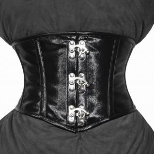 Taillen korsett corsage aus PVC Kunstleder schwarz