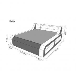 Modernes Komplettbett Matera mit LED Beleuchtung - Vorschau 3