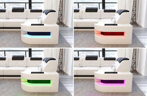Modernes Stoffcouch Como in L Form mit LED Licht - Vorschau 3