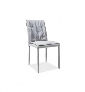 Design Esszimmerstuhl Horizont mit Stoffbezug in grau
