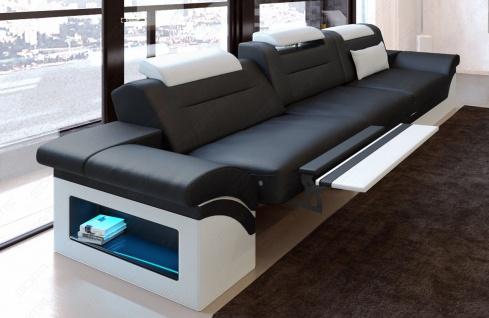 Modernes Sofa Monza als 3 Sitzer Couch mit Beleuchtung - Vorschau 2