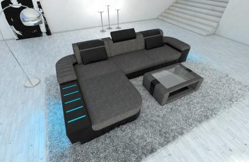 Polster Couch Bellagio in der L Form mit edler LED Beleuchtung - Vorschau 2