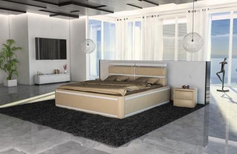 Designer Bett Venedig in Boxspring Optik mit Beleuchtung - Vorschau 2