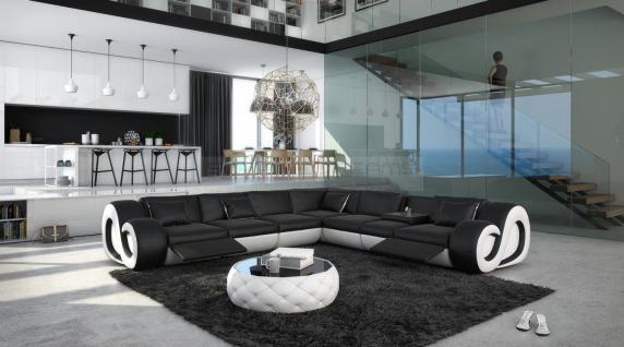 Leder Couch Nesta L-Form XXL mit Beleuchtung - Vorschau 2