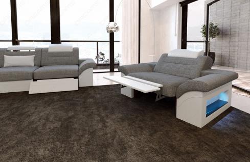 Stoff Sofagarnitur Monza mit 3 Sitzer und 2 Sitzer Sofa - Vorschau 3