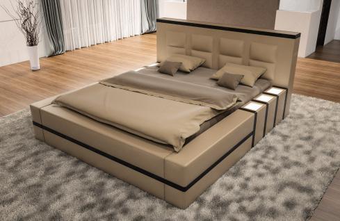 Komplettes Bett Asti mit LED Beleuchtung - Matratze und Lattenrost - Vorschau 2