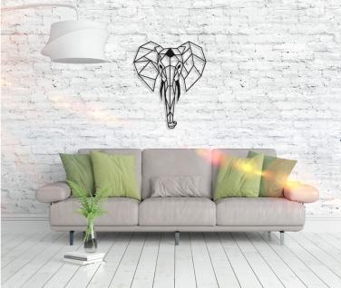 Metall Wandbild - Elefant - Vorschau