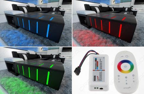 Polster Couch Bellagio in der L Form mit edler LED Beleuchtung - Vorschau 3