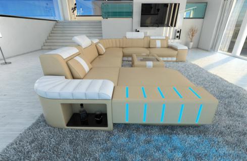 Design Wohnlandschaft Bellagio als XXL Version mit Bettfunktion - Vorschau 4