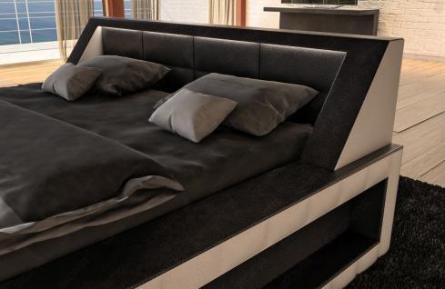 Modernes Designerbett Matera mit LED Beleuchtung - Vorschau 3
