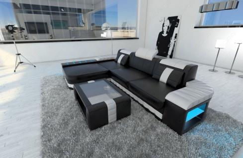 Sofa Bellagio als modernes Ecksofa in der L Form mit LED Beleuchtung - Vorschau 4