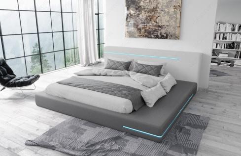 Modernes Designerbett Rimini mit LED Beleuchtung - Vorschau 5