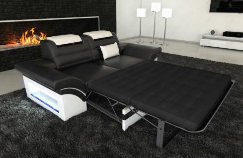 Modernes Sofa Monza als 2 Sitzer Couch mit Beleuchtung
