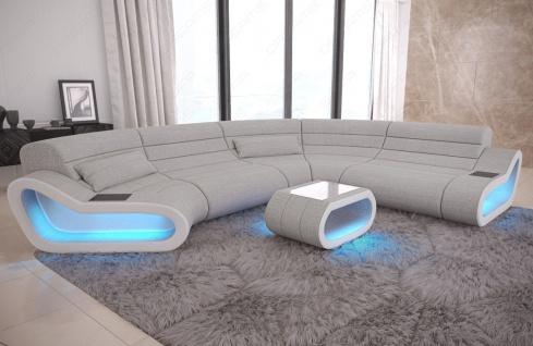 Wohnlandschaft Stoff Couch Concept mit LED Beleuchtung - Vorschau 3