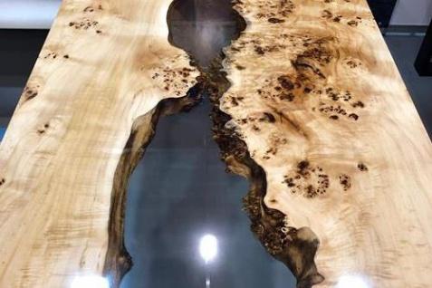 Esstisch Holz Epoxidharz Mix Lake - Vorschau 2