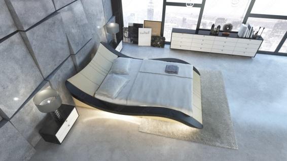Design Lederbett Frankfurt mit LED Beleuchtung