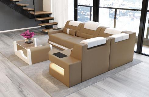 Designersofa Como in der L Form mit Leder - Vorschau 2