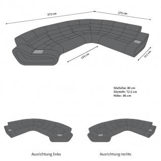 Wohnlandschaft Stoff Couch Concept mit LED Beleuchtung - Vorschau 5
