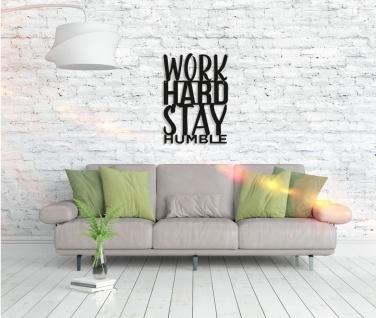 Metall Wandbild - Work Hard - Vorschau