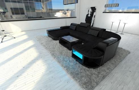 Luxus Wohnlandschaft Bellagio als U Form Stoffsofa mit Funktionen - Vorschau 4