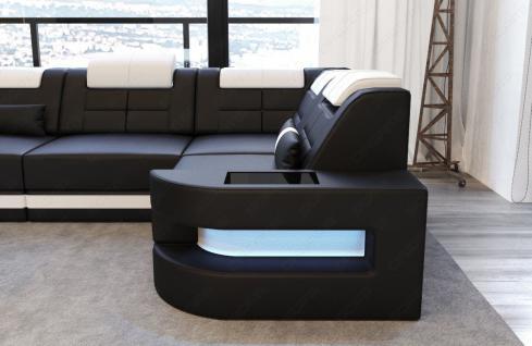 Designersofa Como in der L Form mit Leder - Vorschau 3