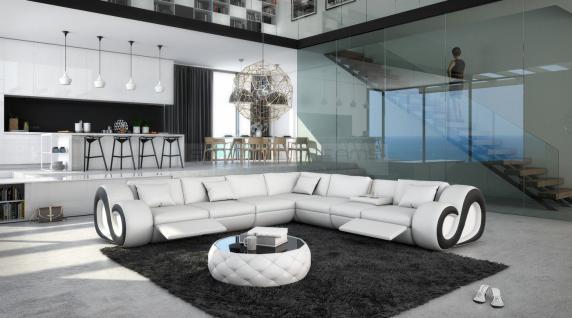 Leder Couch Nesta L-Form XXL mit Beleuchtung - Vorschau 4