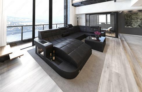 Sofa Wohnlandschaft Wave in U Form mit relaxe Ottomane - Vorschau 4
