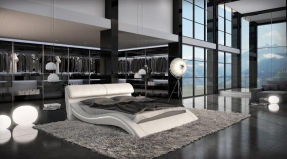 Design Polsterbett Azure mit LED Beleuchtung 180 x 200 cm